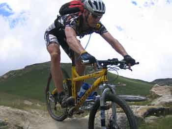 Grant at the Lesotho Thin Air challenge MTB